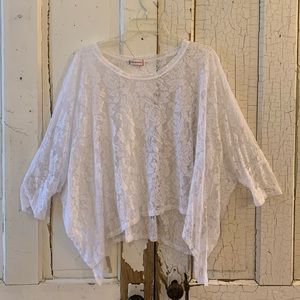 Wearables white lace top One Size